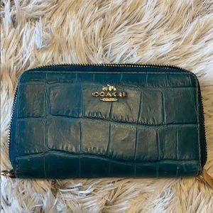 Coach faux Alligator Wallet